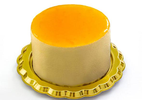 peach semifreddo peach semifreddo cream decorated with peach glaze ...